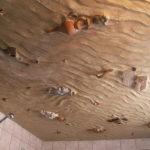 Необычный 3d потолок в ванной