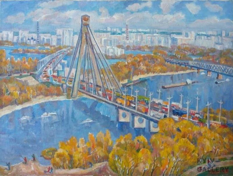 Картина. Киев. Осень на Днепре.